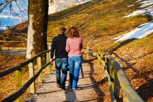 couple walking -