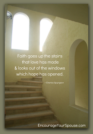 Open window staircase spurgeon quote encourage your spouse for Window quotes