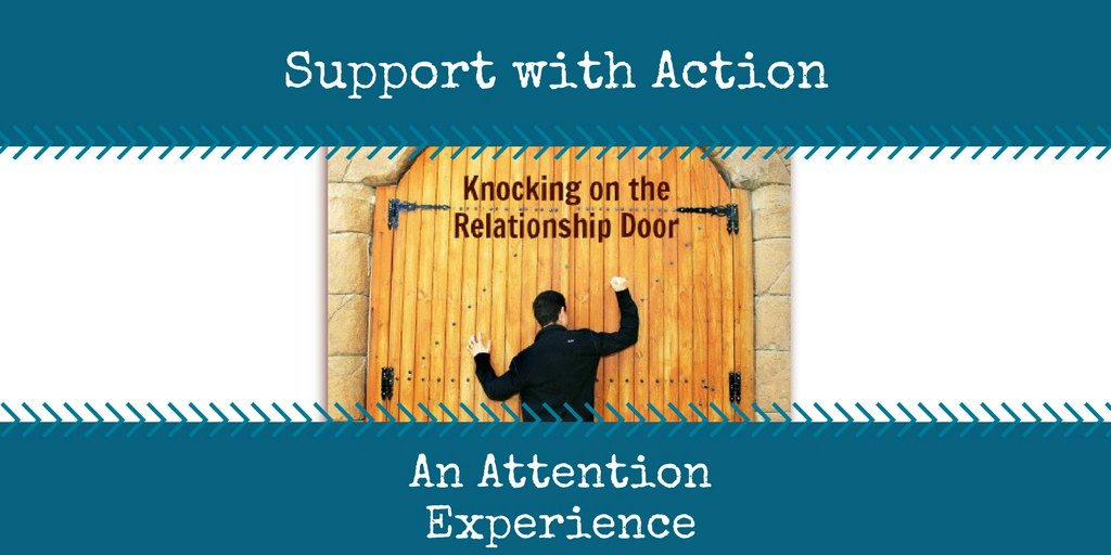 attention experience - support your spouse with action - respond when they knock
