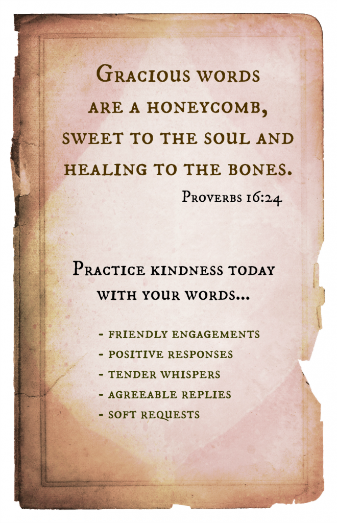 Practice Kindness today with your words