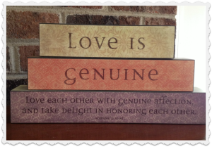 love is genuine - Mary and Martha Vintage Block set 83728