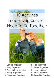 10 Activities Healthy Leadership Couples Need to Do Together
