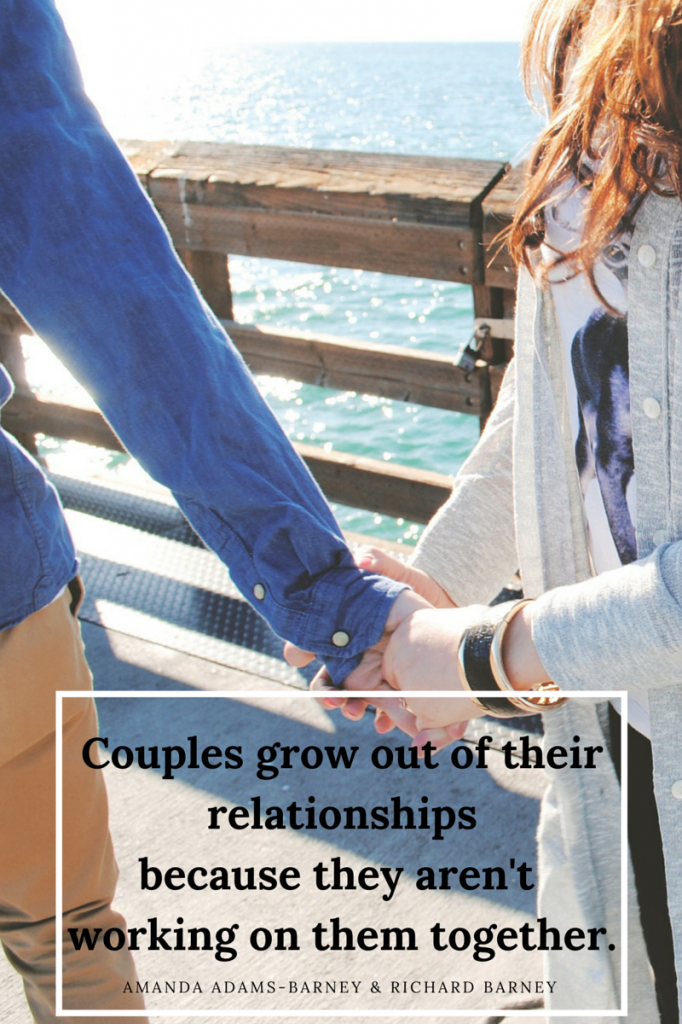 Couples grow out of their relationships