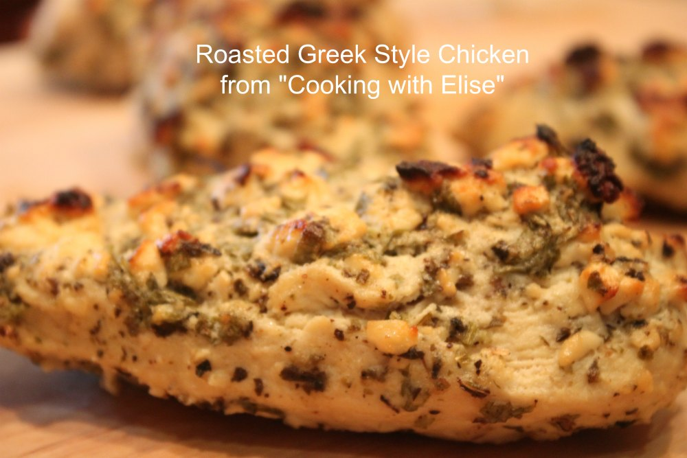 Roasted Greek Style Chicken from Cooking with Elise