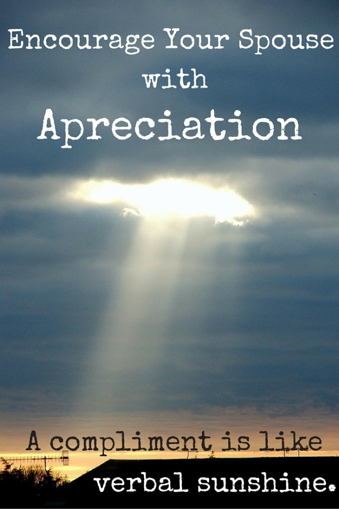Encourage your spouse with appreciation - 5 ways to use the value of appreciation in your marriage