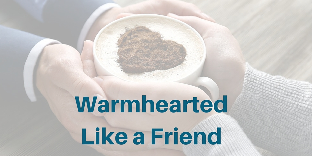 warmhearted like a friend - a spouse filled with affection and sympathy
