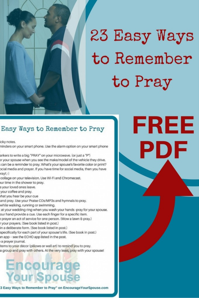 23 easy ways to remember to pray - We all want to pray, right? But sometimes it's hard to fit it into a day. Here's a list of 23 ways to fit prayer into your life and there's a PDF to download to use too!