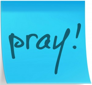 sticky notes to remember to pray