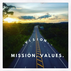 talk about time - use your vision, mission and values