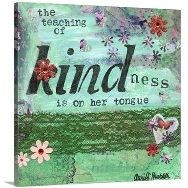 Words Matter - The Teaching of Kindness by Cherie Burbach at Great Big Canvas - item 2496431